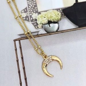 🥳2/$40 SALE🥳Gold Cresent Horn Necklace